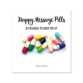 Happy message pills in een zakje. Per 5 stuks