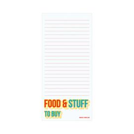 10x21 Notitieblokje - Food & stuff to buy, per 5 stuks