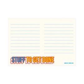 A6 Notitieblokje - Stuff to get done, per 5 stuks