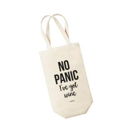 Wijntas - No panic I've got wine. Per 5 stuks
