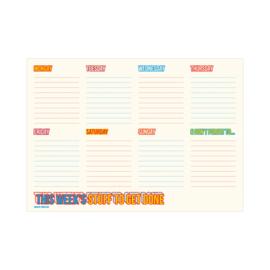 A4 Weekplanner - This week's stuff to get done, per 5 stuks