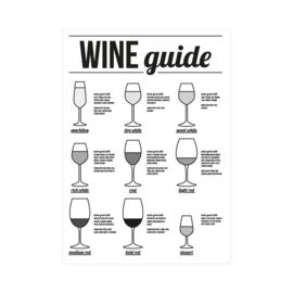 XL Poster - Wine guide. Per 5 stuks