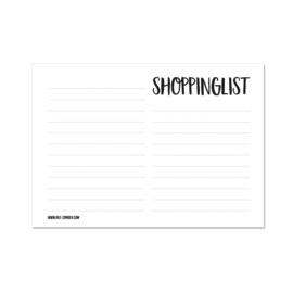A6 Notitieblokje - Shoppinglist, per 5 stuks