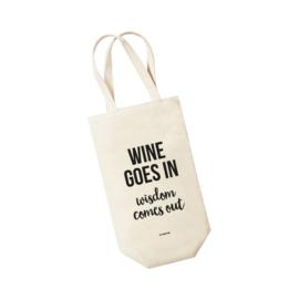 Wijntas - Wine goes in Wisdom comes out. Per 5 stuks