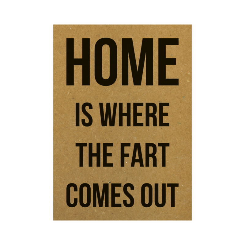 Home is where the fart comes out, per 5 stuks