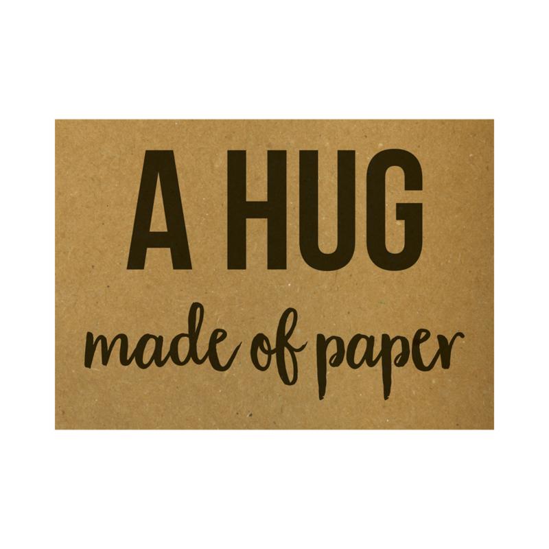 A hug made of paper, per 5 stuks