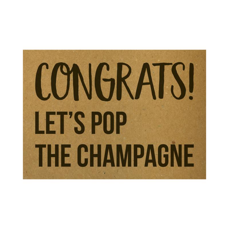 Congrats Let's pop the champagne, per 5 stuks