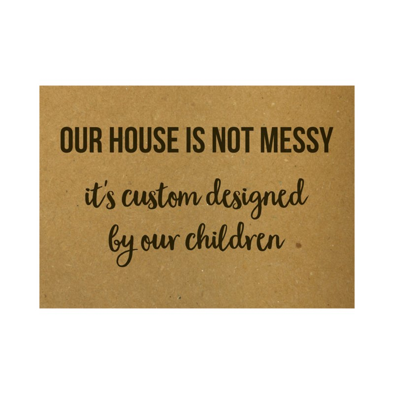 Our house is not messy, it's custom designed by our children, per 10 stuks