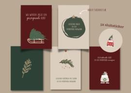 Christelijke kaartenset met sluitstickers - 5stuks