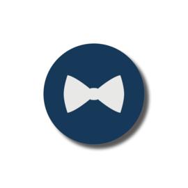 Strikje blauw / 5 stuks