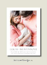 Geboortekaartje Lukas