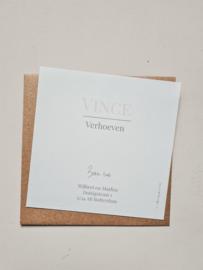 Geboortekaartje Vince
