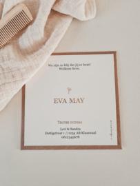 Geboortekaartje Eva May