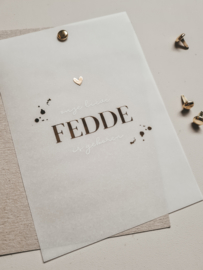 Geboortekaartje Fedde