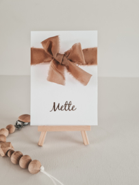 Geboortekaartje Mette