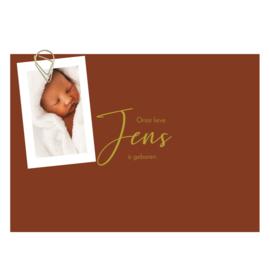 Geboortekaartje Jens