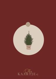 Sluitsticker kerstboom 5st
