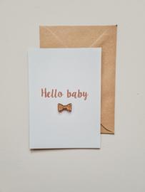 Hello baby / hout strikje