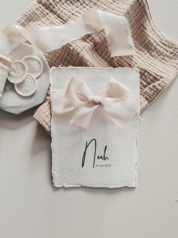 Geboortekaartje Noah Strik