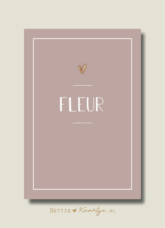 Geboortekaartje Fleur