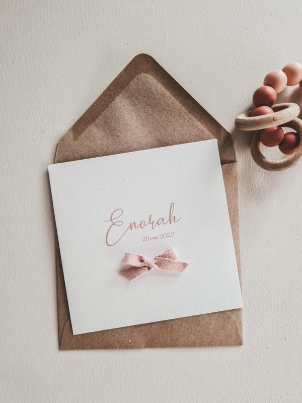 Geboortekaartje Enorah