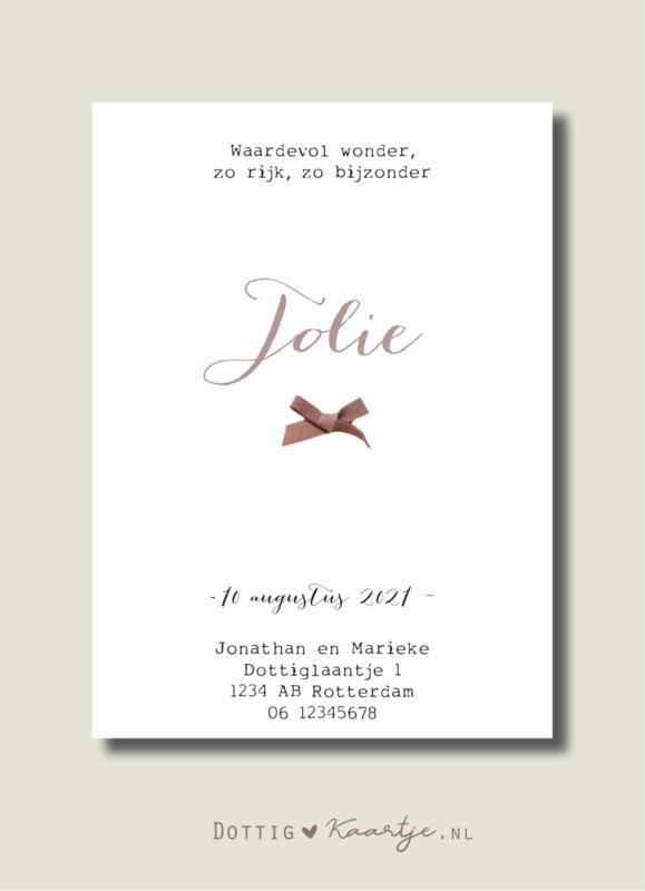 Geboortekaartje Jolie