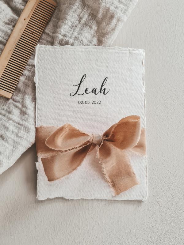 Geboortekaartje Leah