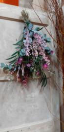 Roze toef 55 cm
