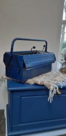 Blauwe gereedschapskist