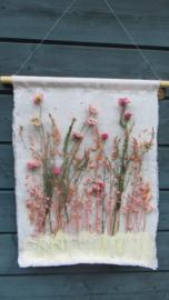 Wanddoek roze