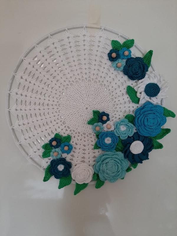Bloemen mandala blauw