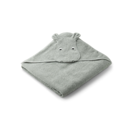 LIEWOOD | AUGUSTA HOODED JUNIOR TOWEL | HIPPO DOVE BLUE