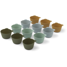 Liewood   Jerry Cake Cup   12 Pack   Green Multi Mix