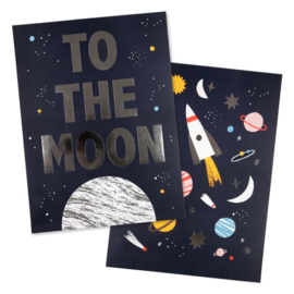 MERI MERI | ART PRINT | SPACE | 2 PACK