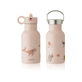 Liewood | Anker Water Bottle | 350 ml | Sea Creature Rose Mix