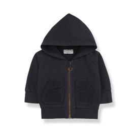 1+ In The Family   Quinn   Hood Jacket   Charcoal