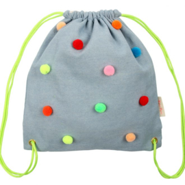 MERI MERI | BACKPACK | CHAMBRAY POM POM