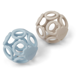 Liewood | Jasmin Teether Ball | 2 Pack | Sandy Sea Blue Mix