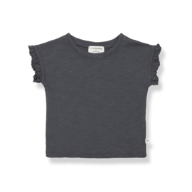 1+ IN THE FAMILY | MIREIA SHORT SLEEVE T-SHIRT | ANTHRACITE