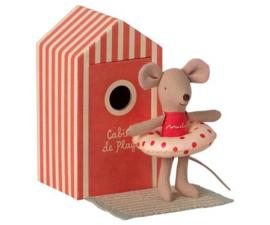 Maileg | Beach Mice | Little Sister | In cabin De La Plage