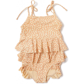 Konges Slojd | Manuca Frill Swimsuit | Buttercup Orange