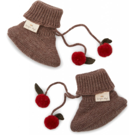 Konges Slojd   Miro Knit Boots   Bunny Brown Melange