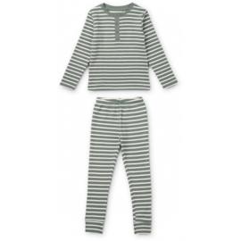 Liewood | Wilhelm Pyjama Set | Stripe Blue Fog / Sandy