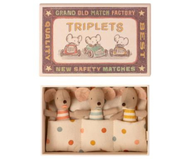 Maileg | Baby Mice | Triplets in Matchbox