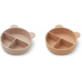 Liewood | Connie | Divider Bowl | 2 Pack | Rose Mix