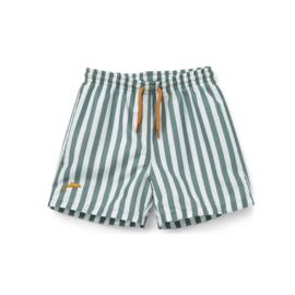 Liewood | Duke Board Short | Stripe Peppermint/White