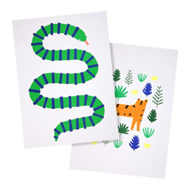MERI MERI | ART PRINT | JUNGLE | 2 PACK