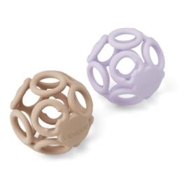 Liewood | Jasmin Teether Ball | 2 Pack | Light Lavender Rose Mix