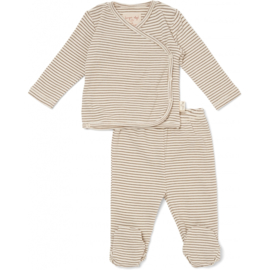 Konges Slojd | Dio Wrap Cardigan And Pants | Capers Stripe