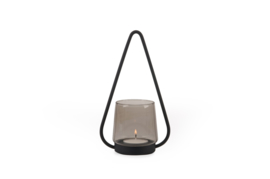 XLBOOM | LYS | CANDLE HOLDER BLACK | SMOKE GREY